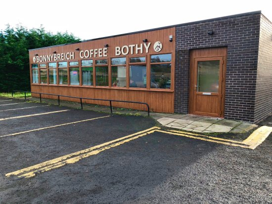Angus, UK: Bonny Breich Coffee Bothy on the A90 south of Aberdeen
