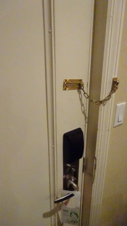 Hotel Stanford: Wonky lock, but at least it worked