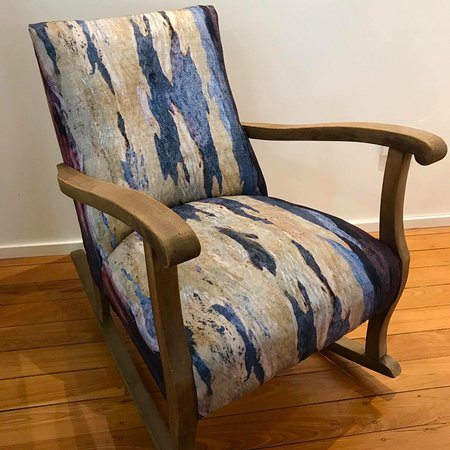 Moore, Australia: A comfy rocking chair covered with Mackenzie Fabrics.  $350