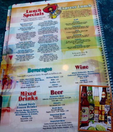 Mi Mexico New Smyrna Beach Fl Menu