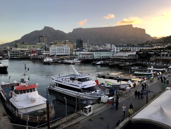 The Table Bay Hotel: View of the Water Front from the Hotel