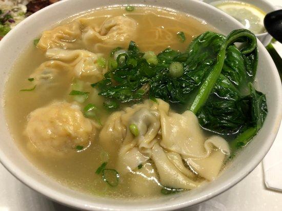 Temple City, CA: Wonton and dumpling noodle soup