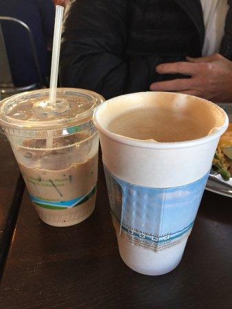 San Mateo, CA: salted caramel latte & old mocha