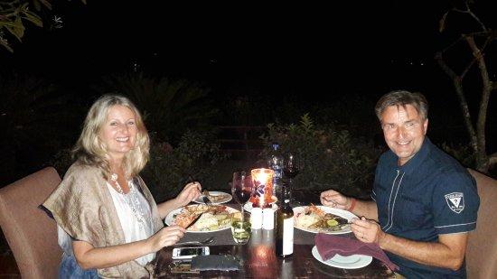Fragrant Nature Backwater Resort & Ayurveda Spa : Seafood dinner