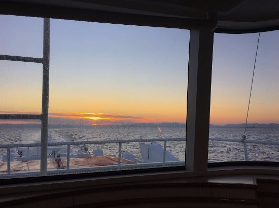 Tsu, Japan: 特別室から見た夕日