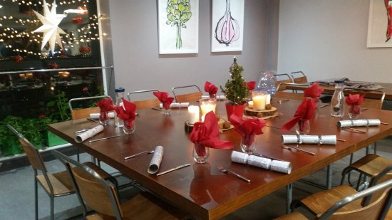 Food Sorcery: Dining Table Ready For Big U0026 LIttle Cooks At At Christmas
