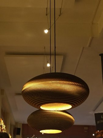 Cardboard chandelier picture of bagels beans deventer tripadvisor bagels beans cardboard chandelier aloadofball Choice Image
