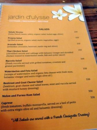 Foto de jardin d 39 ulysse morjim menu 3 tripadvisor for Jardin lee menu livraison