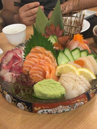 Premium sashimi plate combination of sashimi salmon for Accord asian cuisine