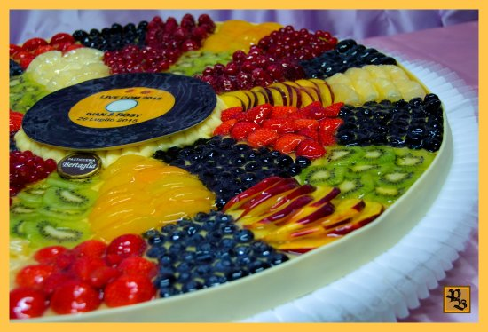 Vercelli, Itália: Trta nuziale Crostata di frutta