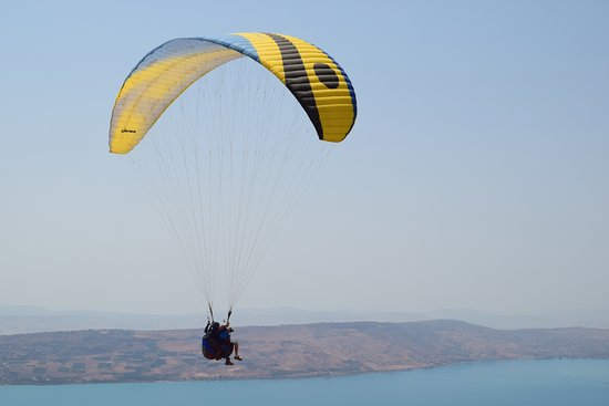 Netanya, Israel: Tandem flight by the Sea of Gelilee