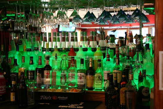 Crows Nest on Camano: the glowing bar