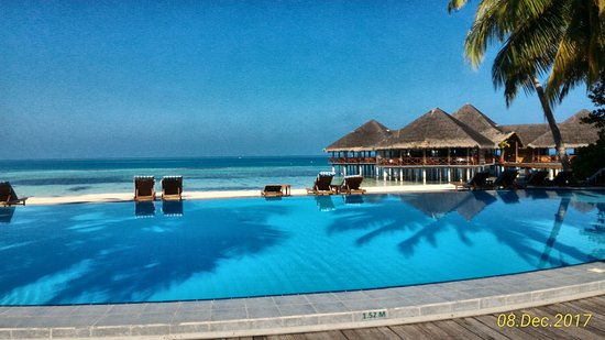Medhufushi Island: Pool as clear as glass