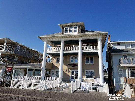Boardwalk entrance to The Lankford Hotel Ocean City MD #oceancitycool