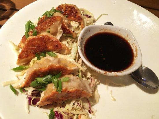 Cooper's Hawk Winery & Restaurants: Chicken Potstickers appetizer w/ginger soy sauce
