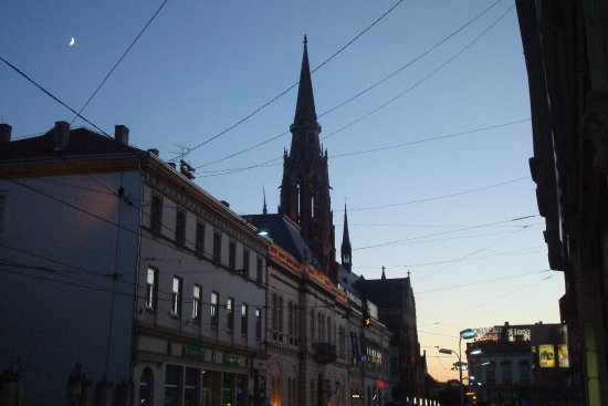 SS Peter and Paul : Co-cathedral spire at dawn