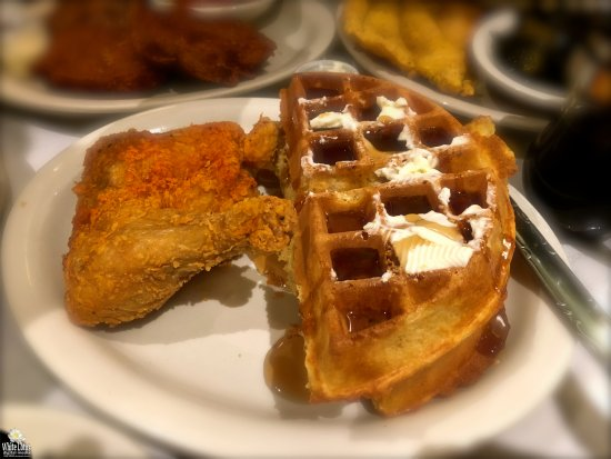 Sylvia's Restaurant: Chicken and waffles. Awesome.