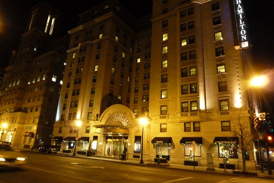 hotel from across the street picture of hamilton hotel. Black Bedroom Furniture Sets. Home Design Ideas