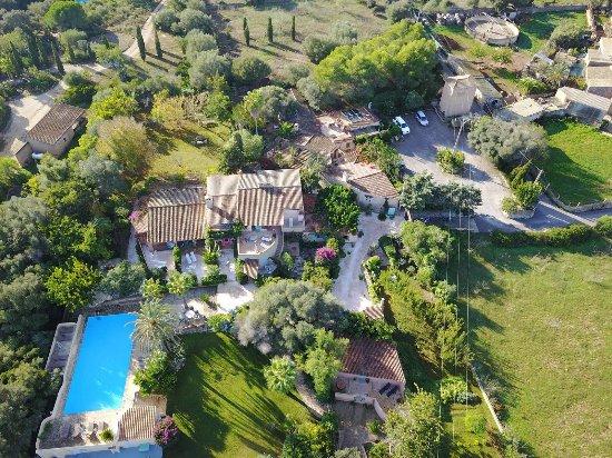 Cas Concos, Ισπανία: das Son Vent von oben