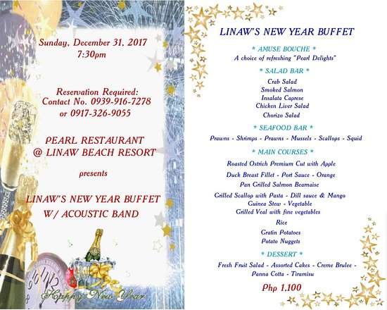 Pearl Restaurant at Linaw Beach Resort: Come and join with us as we celebrate yuletide season and for the upcoming new year celebration.