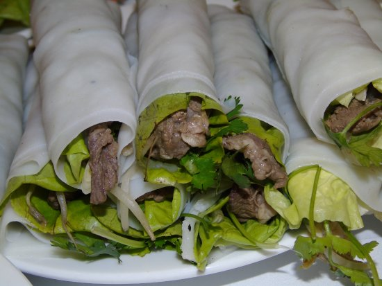 Hanoi Space Hotel: Spring Roll rolled pho