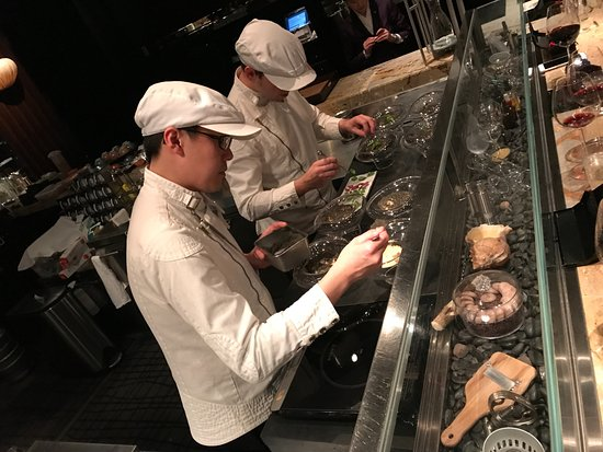 Tapas Molecular Bar: The two chefs busy during service