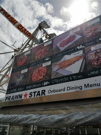 Prawn Star: menu 2
