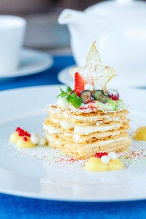 Panorama A.S.P.: Необыкновенные десерты: Мильфей с кремом из сока юдзу.