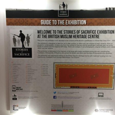 British Muslim Heritage Centre: Stories of Sacrifice exhibition 2016/17