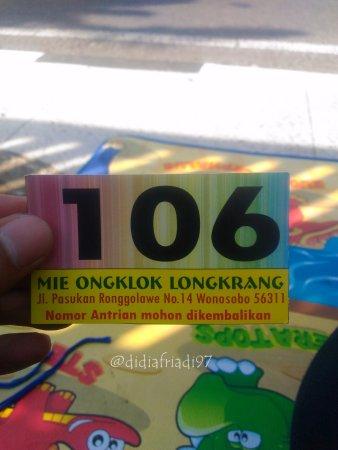 Mie Ongklok Longkrang: Nomor Antrian