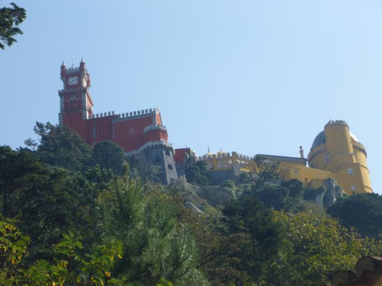 Park and National Palace of Pena: Pena Palace from Below