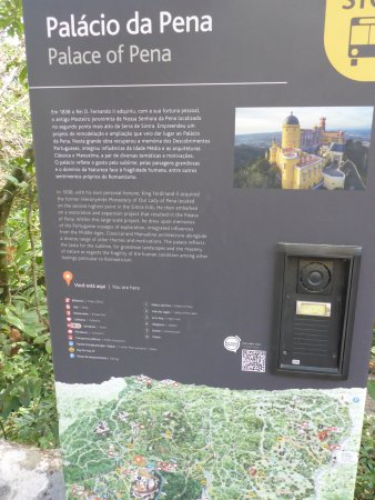 Park and National Palace of Pena: History Board of Pena