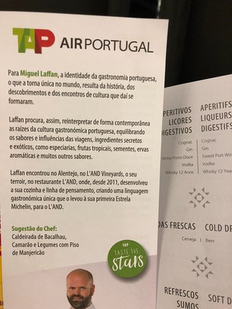 TAP Air Portugal: Folder do Chef