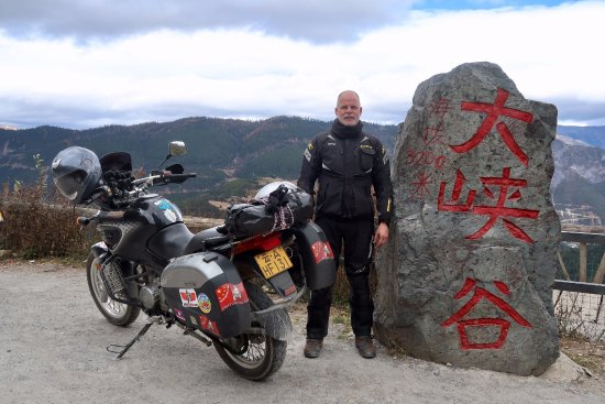 Ride China Motorcycle Tours and Rentals: high up at 3200m. Highest road was 4200m