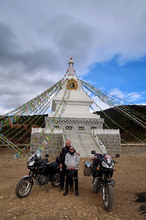 Ride China Motorcycle Tours and Rentals: roadside temple