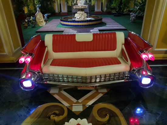 Mayfair Lagoon: Sofa made form the back end of a Chevy Impala