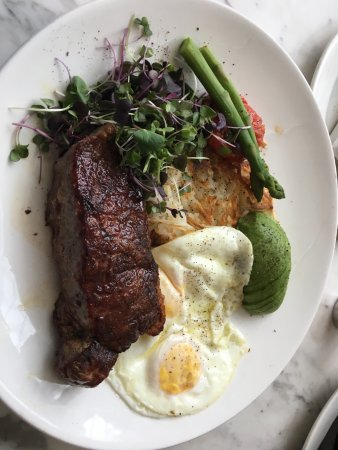 Lake Forest, IL: steak and eggs for breakfast