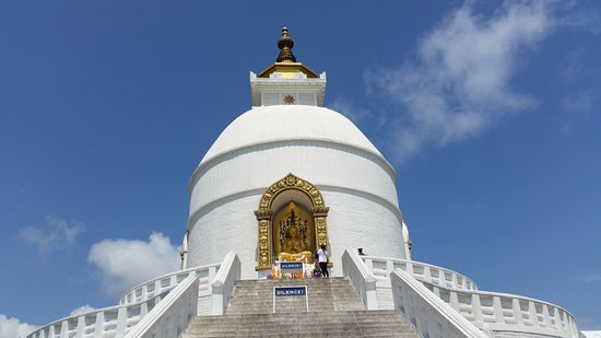 Kathmandu, Nepal: World Peace Stupa - Pokhara