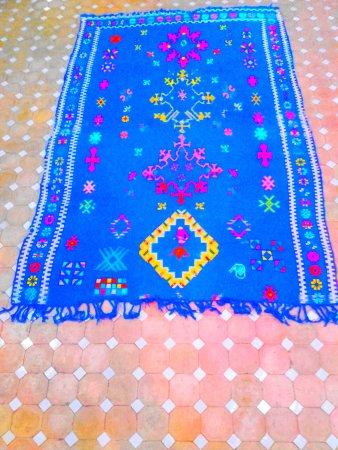 Región de Tánger-Tetuán, Marruecos: Blue carpet berber