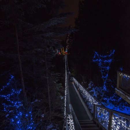 Vancouver Utara, Kanada: Foto noturna na véspera de Natal estava muito lindo