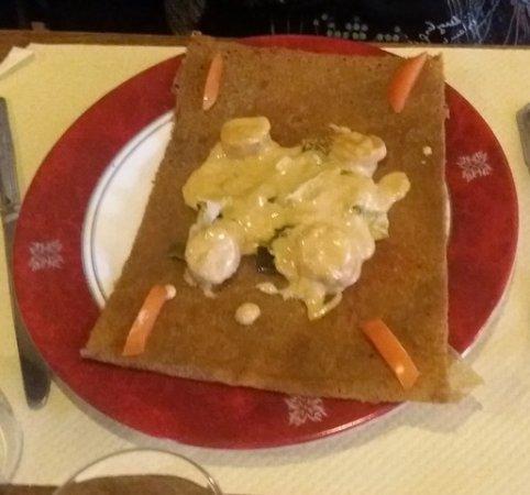Morbihan, France: galette noix de saint jacques