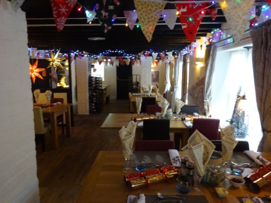 Watton, UK: Dining room laid for Christmas Day lunch