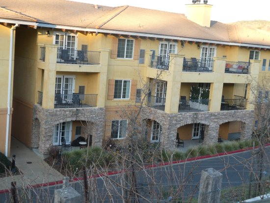 The Meritage Resort and Spa: Our terrace: middle floor on right.