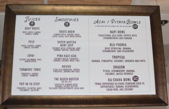 Aa Roots Maui: More menu