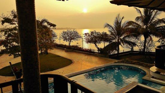 Ramada Resort Cochin: Sunrise as seen from the room balcony