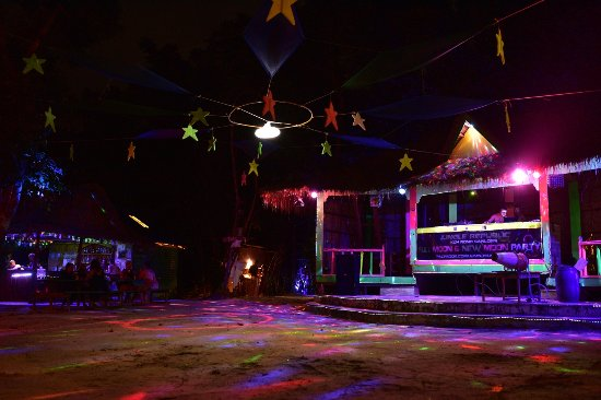 Koh Rong Samloem, Cambodia: Jungle Republic Stage - preparations for Halooween Party 2017