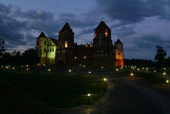 Mir Castle: Castle of Mir at night