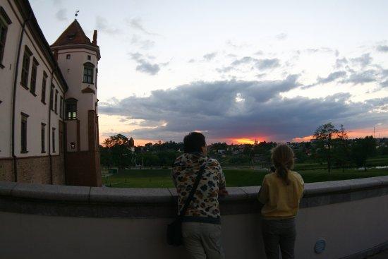 Mir Castle: sunset