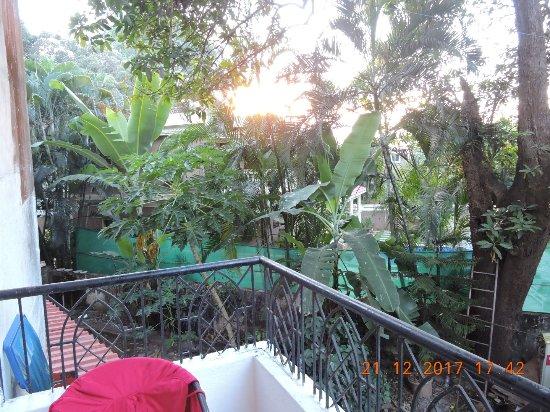 The Goan Village Beach Resort: Bed room balcony