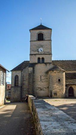 Chateau Chalon, France : колокольня